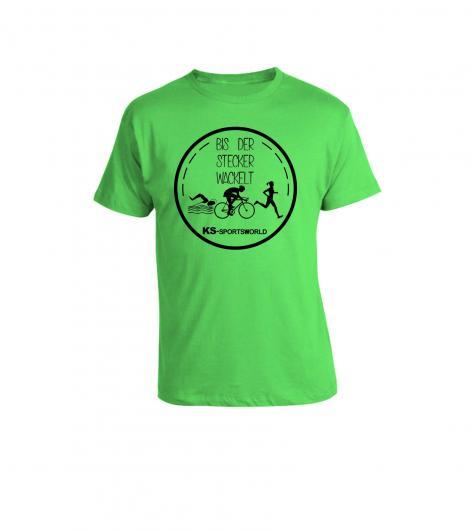 """Shirt """"Bis der Stecker wackelt"""" - Triathlon"""